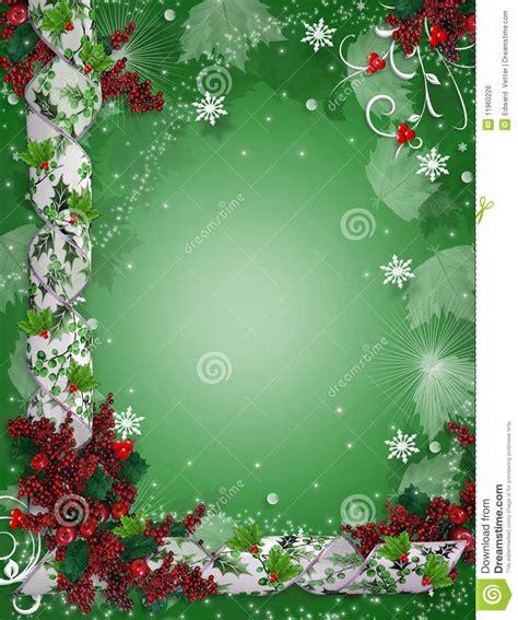 christmas wallpaper invitations border ribbons stock illustration illustration of delicate leaves