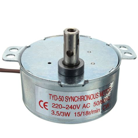 Electric Rotating Motor by Ac 220 240v Turntable Synchronous Motor 15 18r Min 3 5 3w