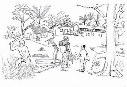Daily South Drawing Cameroon Baliyanga Emmanuel African