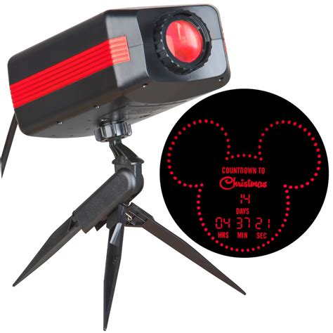 holiday light projector lowes shop disney countdown to christmas red led outdoor stake