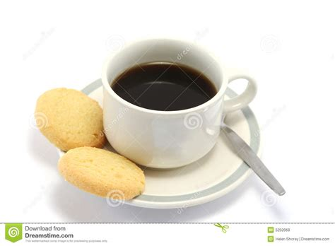 Coffee And Biscuits Stock Image. Image Of Black