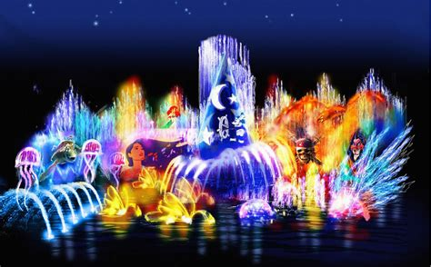 disney world light show the world of color concept art designing disney