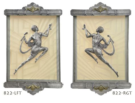 Art Deco Wall Sconces Recreated Figural Lighting From Gori