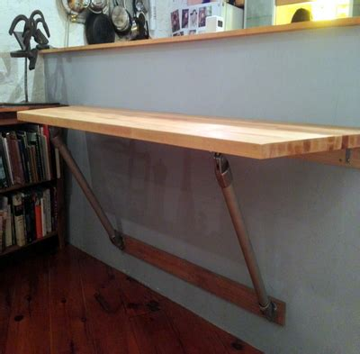 custom standing desk wall mounted block table wall
