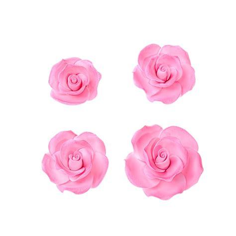 decorazioni torte pasta di zucchero fiori rosa in pasta di zucchero pronte all uso per decorazioni