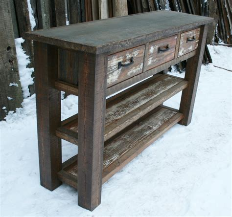 rustic entryway table reclaimed rustic console entry table by echopeakdesign on etsy