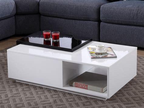 table basse avec rangement noir ezooq