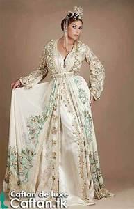 un caftan marocain indescriptible fait par des matieres With robe fiancaille orientale