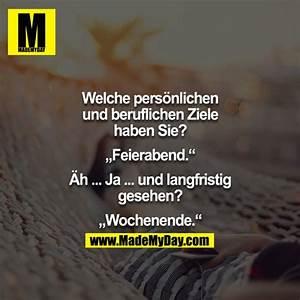 Feierabend Und Wochenende : welche pers nlichen und beruflichen ziele made my day ~ Orissabook.com Haus und Dekorationen