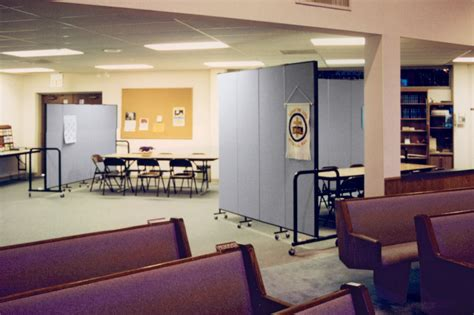Rolling Room Divider Uses In A Church  Screenflex Room