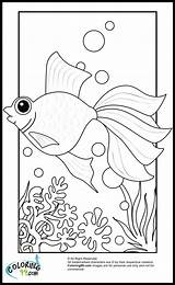 Goldfish Coloring Pages Fish Printable Gold Cartoon Colors Getcoloringpages Teamcolors sketch template