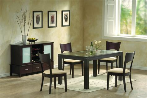 modern dining room furniture frosted glass  chocolate