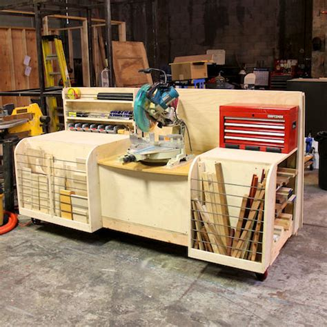 combo miter  station lumber rack  steps  pictures