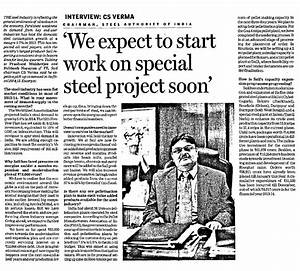 We expect to start work on special Steel Project soon | SAIL