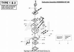 Poulan Pe550 Gas Edger Type 2 Parts Diagram For Carburetor