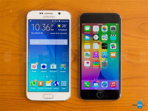 iphone 6 vs samsung galaxy s6 samsung galaxy s6 vs apple iphone 6