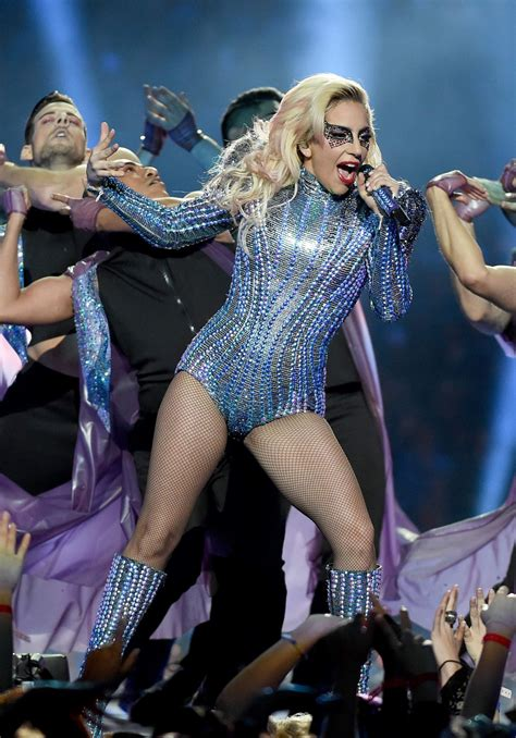 Lady Gaga At Super Bowl Li Halftime Show In Houston Texas