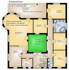 Atrium Bungalow Grundrisse : atrium 12t winkelbungalow mit erker plus turm 165 20 13 einfamilienhaus neubau massivbau stein ~ Bigdaddyawards.com Haus und Dekorationen