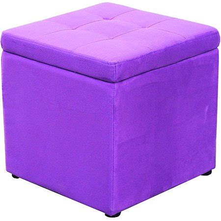 Purple Ottoman by Mainstays Square Storage Ottoman Purple Spice Walmart