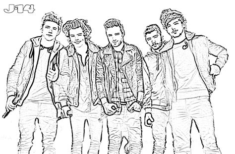 10 Printable One Direction Coloring Pages 6