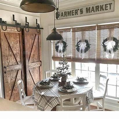 Farmhouse Shabby Chic Decor Rustic Dining Wall