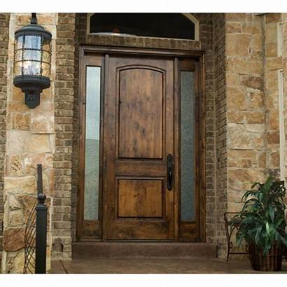 Alder Wood Entry Door Stained Doors Knotty