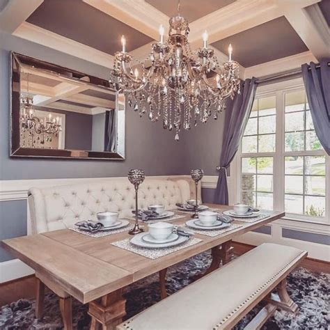 rustic chic dining room archer dining table omni