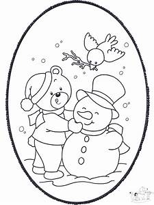 Winter Stechkarte 2 Malvorlagen In Uns Ums Haus