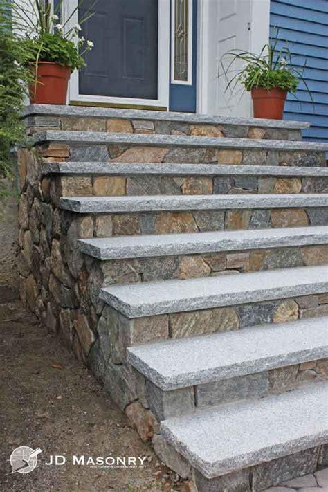 jd masonry granite steps front steps