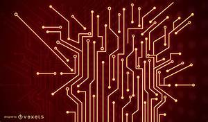 Red Technology Background - Vector download