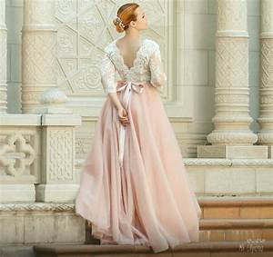 pink wedding dress tulle wedding dress long sleeves With long sleeve pink wedding dresses