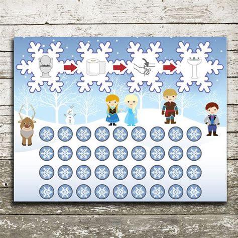disney frozen potty training chart instant   thepurplepear etsy potty training