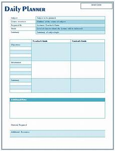 daily lesson plan template for teachers With dcps lesson plan template
