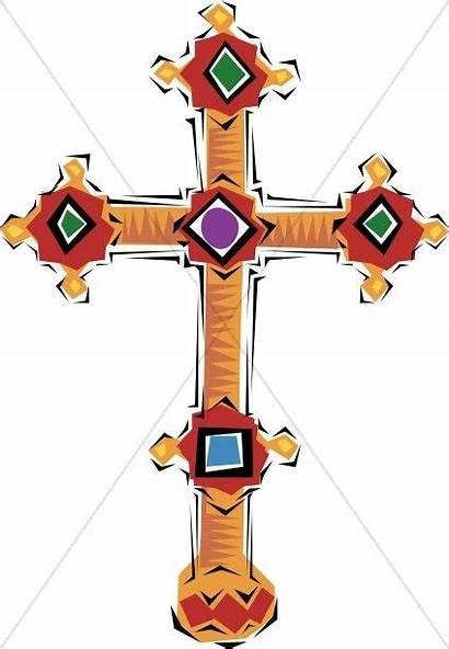 Cross Clipart Spanish Jeweled Christian Clip Swirls