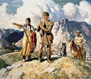 Sacagawea With Lewis And Clark During Their Expedition Of ...