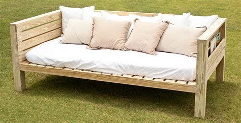 wooden daybeds  storage build  outdoor daybed