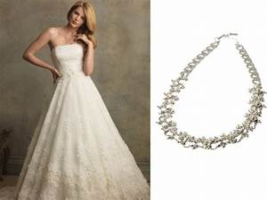 beautiful affordable wedding gowns with matching jewelry With wedding dress necklace