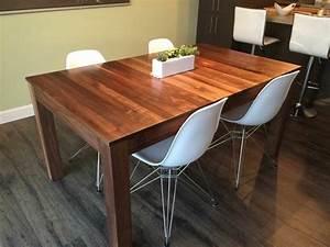 Table De Cuisine En Bois : table de cuisine le bois chez vous ~ Teatrodelosmanantiales.com Idées de Décoration