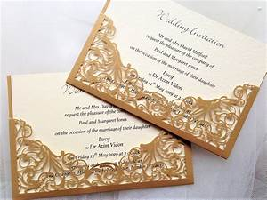 gold pocket laser cut wedding invitations gbp2 each With laser cut wedding invitations near me