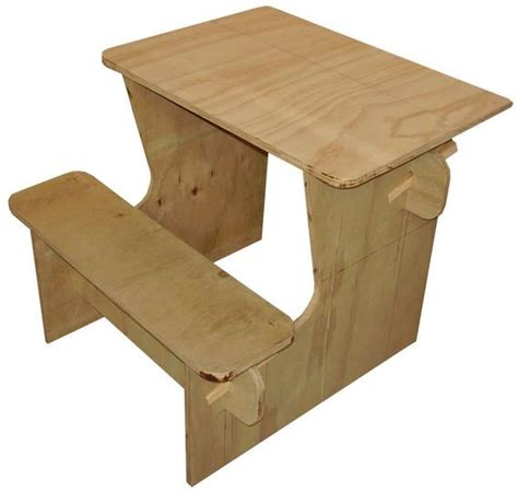 plans   plywood kids desk  downloadable file