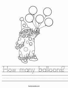 Free worksheets free cursive worksheets free math for Cursive letter balloons