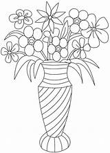 Coloring Flower Pages Bouquet Printable Getcolorings sketch template