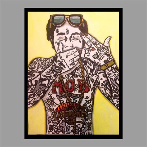wayne lil pop rapper painting bristol board ooak acrylic