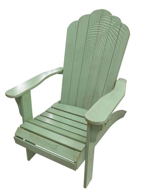 Margaritaville Classic Adirondack Chair by Cing Station Margaritaville Wood Carved Quot Green