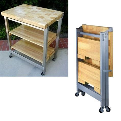 folding kitchen island order today deluxe folding kitchen island natural 36 quot h x 30 quot w x 20 5 quot d jeremymaysredvoice