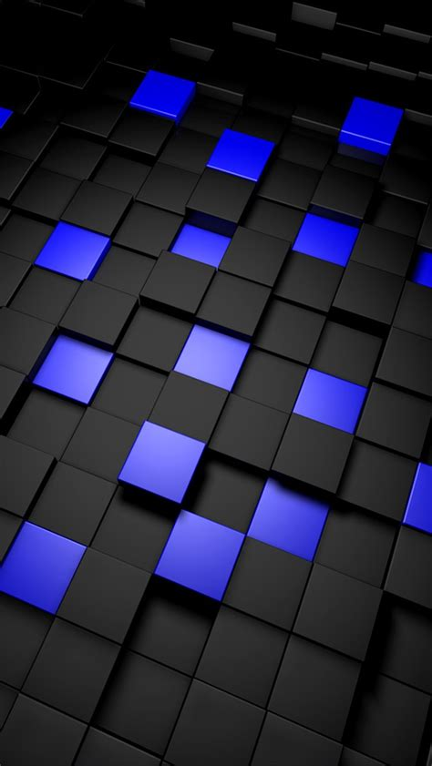 3d Blue Wallpaper by 3d And Blue Cubes Iphone 6 6 Plus And Iphone 5 4
