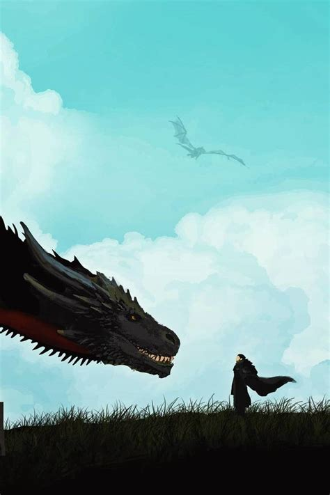 jon snow  khalessi dragon artwork  wallpaper
