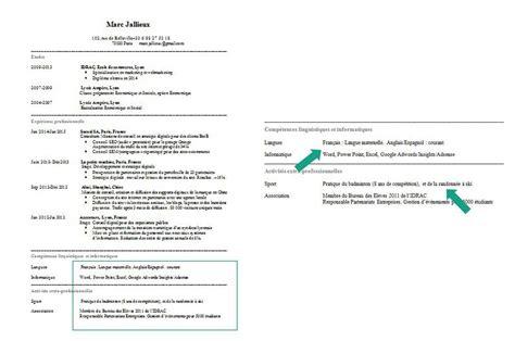 Rédiger Un Cv Exemple by Comment Faire Un Cv Guide Complet