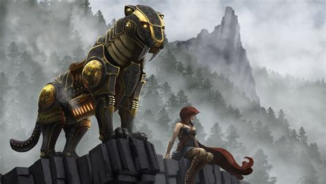 Beast Animal Wallpaper - fangs robot the beast saber toothed tiger