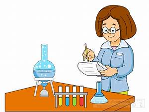 Science Clipart- lady-scientist-performing-experiment ...